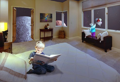 Bedroom, Space, Galaxi, Fantasy, Childrens, Sitting