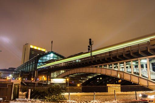 Train, Night, Station, Transport, City, Travel