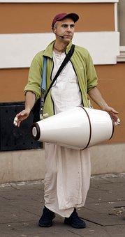 Man, Person, Instrument, Percussion, Beats, Street