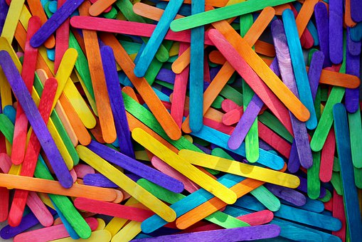 Sticks, Colorful, The Background, Texture