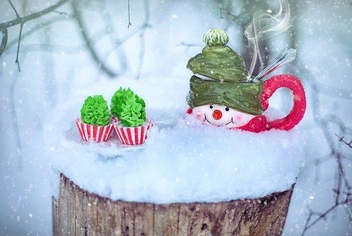 Winter, Snow, Coffee, Hot Chocolate, Hot Cocoa, Treat