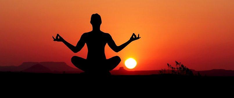 Sunset, Yoga, Zen, Meditation, Nature