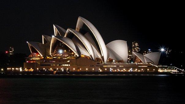 Opera House, Sydney, Architecture, Australia, Night