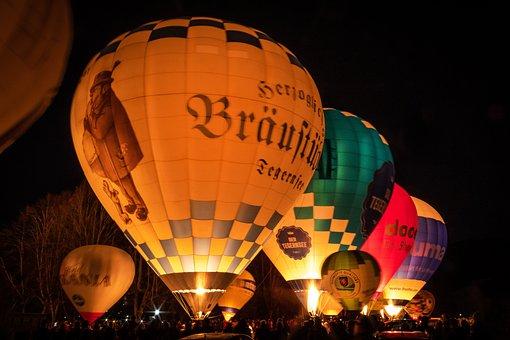 Balloon Glow, Hot Air Balloon, Ballooning