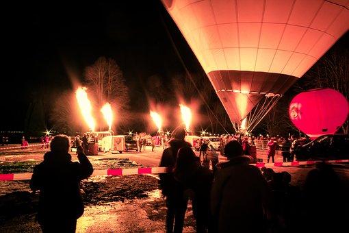 Balloon Glow, Gas, Hot Air Balloon, Ballooning