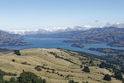 New Zealand, Banks Peninsula, Peninsula, Akaroa Bay