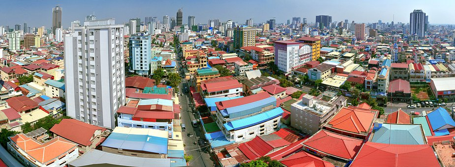 Center, Cambodia, Penh, Phnom, Panorama, Rooftop, Roof