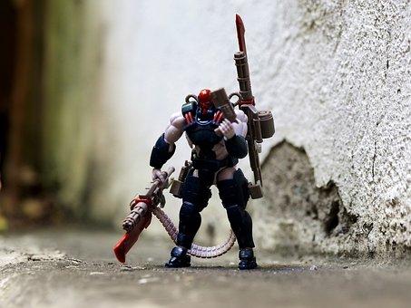 Soldier, Pistol, Chain, Gun, Firearms, Weapon, Toy