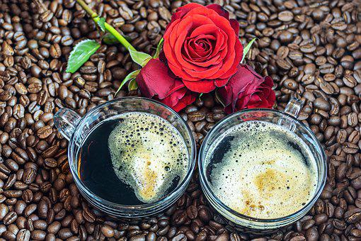 Coffee, T, Coffee Mugs, Coffee Beans, Roses, Caffeine