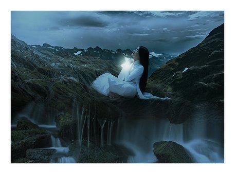 Fantasy, Dark, Gothic, Daughter Of The Stars, Woman