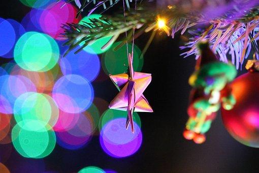 Christmas, Star, Christmas Tree, Light, Bokeh, Deco