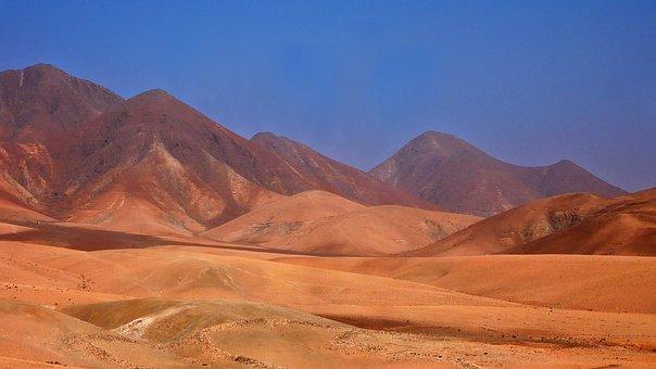 Desert, Landscape, Orange, Nature, Sky