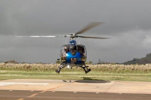 Helicopter, Departure, Landing, Wave