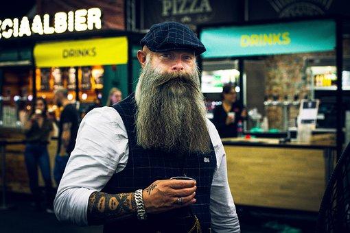 Beard, Man, Portrait, Person, Grown Up