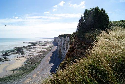 Normandy, Sea, Rock, France, Normandie, Beach, Water