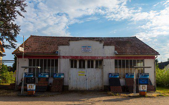 Petrol Stations, Old House, Facade, Architecture