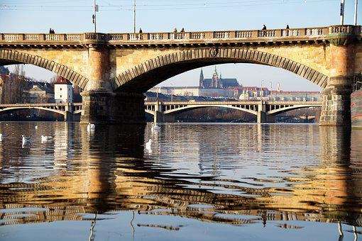 Bridge, Old, Stone, Architecture, Prague, Prague Castle