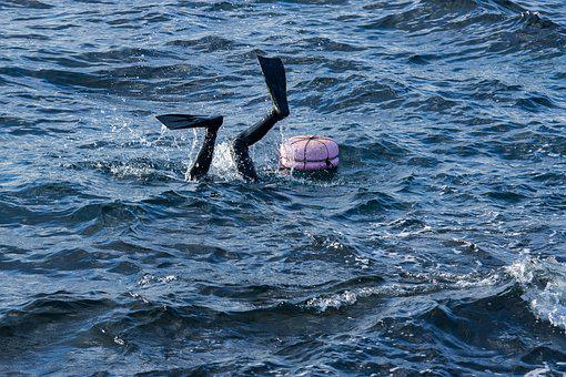 Female Diver, Sea, Scuba, Diving, Underwater, Woman