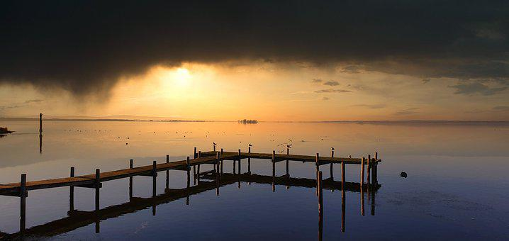 Steinhuder Sea, Lower Saxony, Lake, Clouds, Sky