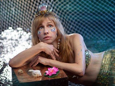 Mermaid, Siren, Fantasy, Sea, Woman, Fish, Story, Swim