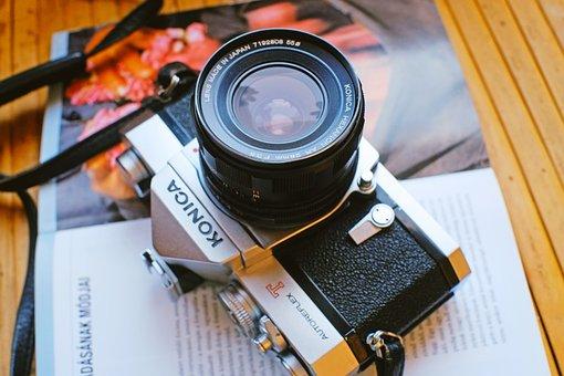 Camera, Book, Old, Vintage, Desk, Retro, Classic, Table