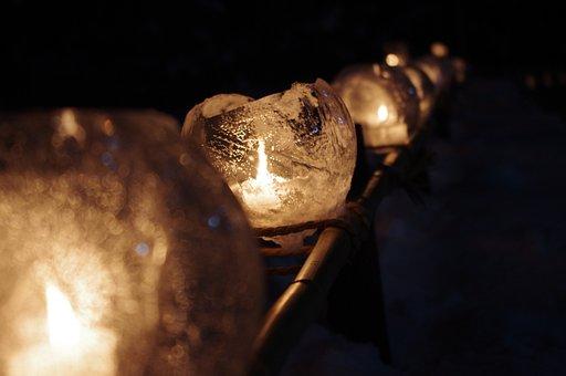 Lantern, Lanterns, Ice, Icy, Candle, Lights, Candles