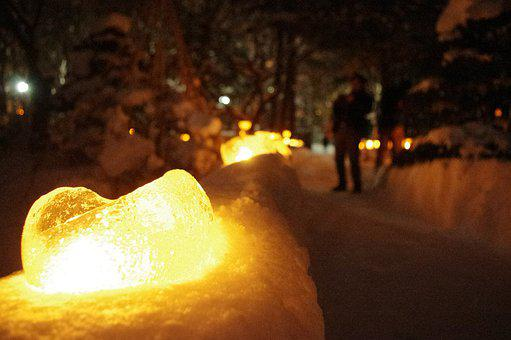 Lantern, Lanterns, Ice, Icy, Candle, Lights, Candles