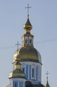 Dome, Cross, Church, Sky, Christianity, Cathedral