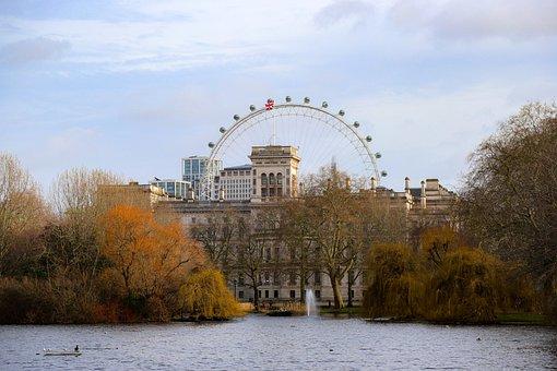 London, England, Ferris Wheel, United Kingdom, City