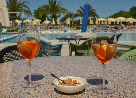 Aperol, Pool, Spritz, Cocktail, Bar