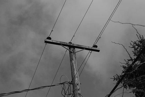 Telephone Pole, Communication, Technology, Network