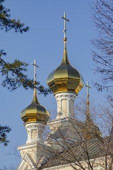 Dome, Cross, Sky, Church, Christianity