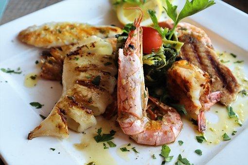 Fish, Squid, Octopus, Fresh, Eat, Delicious, Appetizing