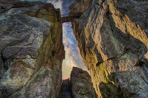 Externsteine, Detmold, Sky, Stones