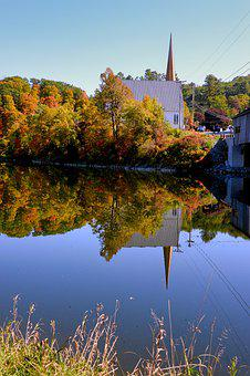 Reflections, Fall, New England, Autumn, Canada, Lake