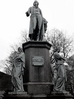 Schiller, Monument, Sculpture, Hamburgensien