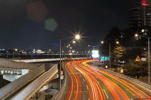 Han River, Night View, Seoul, Korea, Bridge, Night