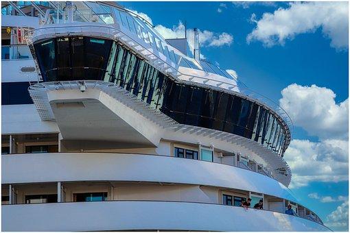 Cruise Ship, Hamburg, Ship, Maritime, Bridge, Large