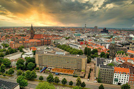 Hanover, Lower Saxony, Sun, Downtown