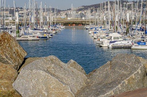 Port, Marina, Sailboat, Harbour, Haven, France, Boat