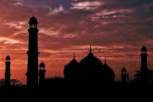 Badshahimosque, Lahore, Arc, Pakistan, Mosque, Islam