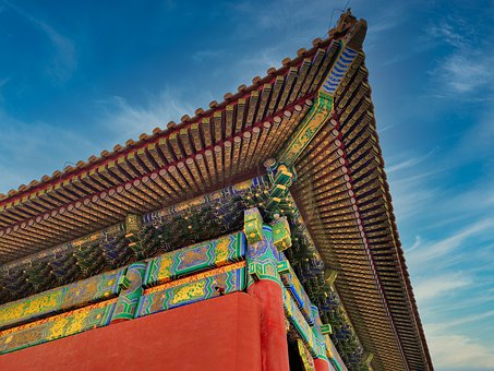 Roof, Palace Roof, Forbidden City, China