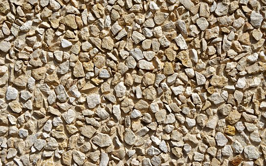 Wall, Decorative, Pebbles, Pressed, Stuck, Background