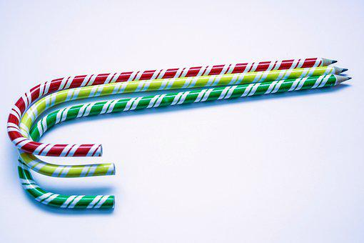 Pencils, Red, Green, Yellow, Bent, Pen, Draw, Education