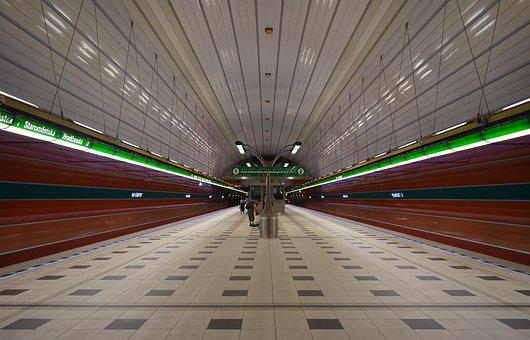 The Station, Metro, Modern, Perspective, Peron