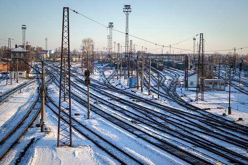 Railway, Rails, Sleepers, Transport
