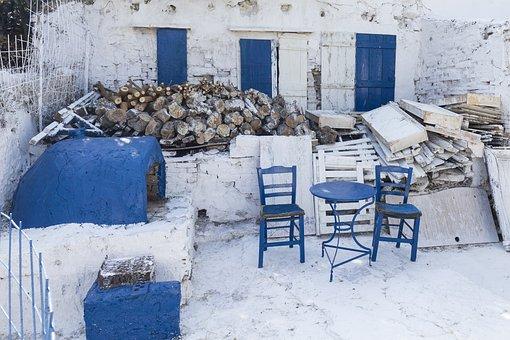 Greece, Bar, Owen, Interior, Restaurant, Summer, Kebab