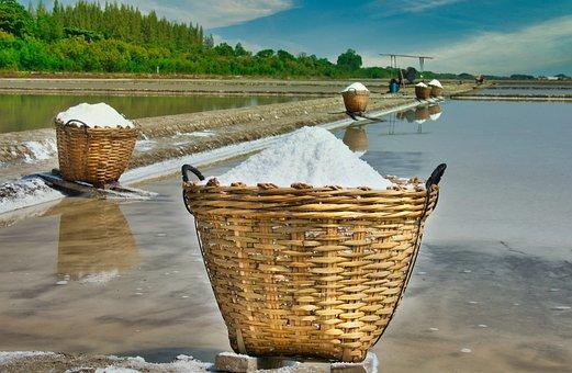 Basket, Salt, Thailand, Salt Box, Saline