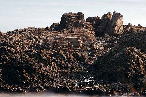 Jusang Joint, Volcano, Travel, Rock, Sea, Volcanic