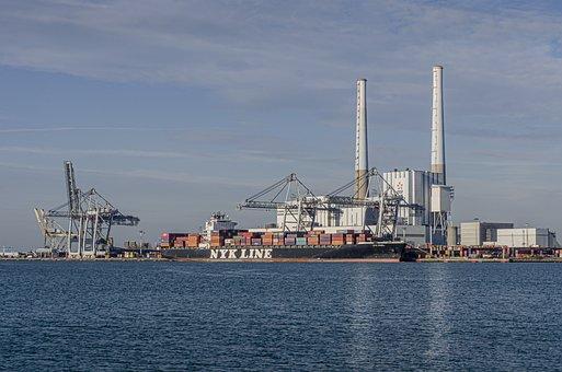 Cargo, Wharf, Container, Ship, Port